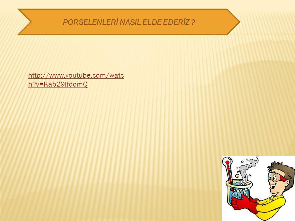 PORSELENLERİ NASIL ELDE EDERİZ