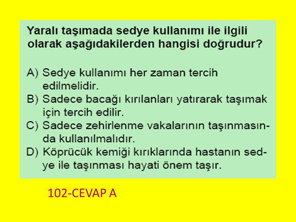 Soru 13.. 102-CEVAP A