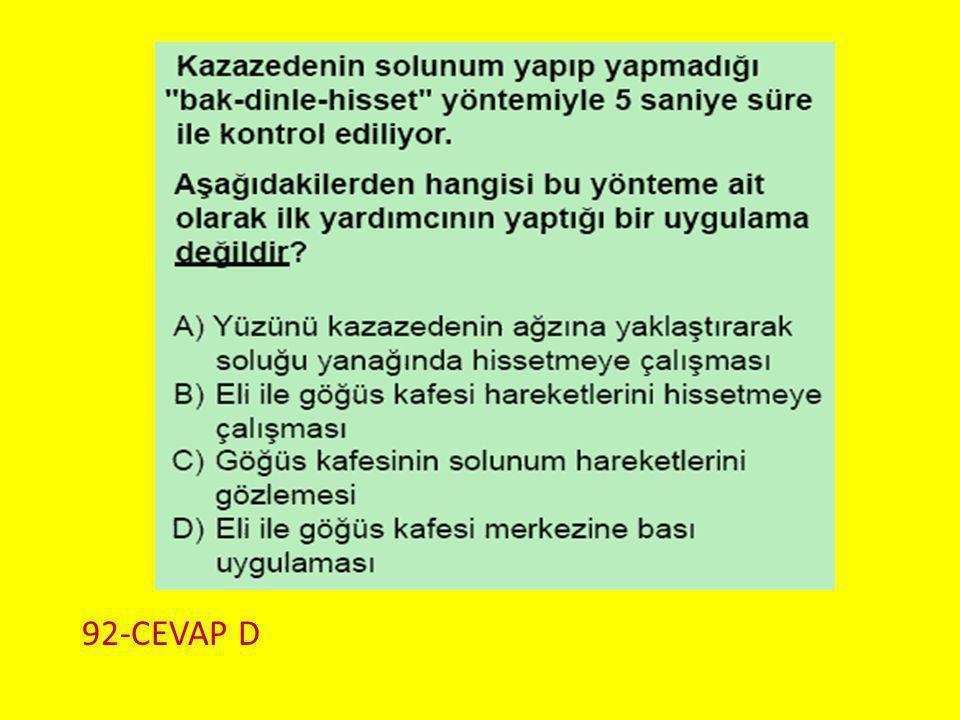 Soru 3.. 92-CEVAP D