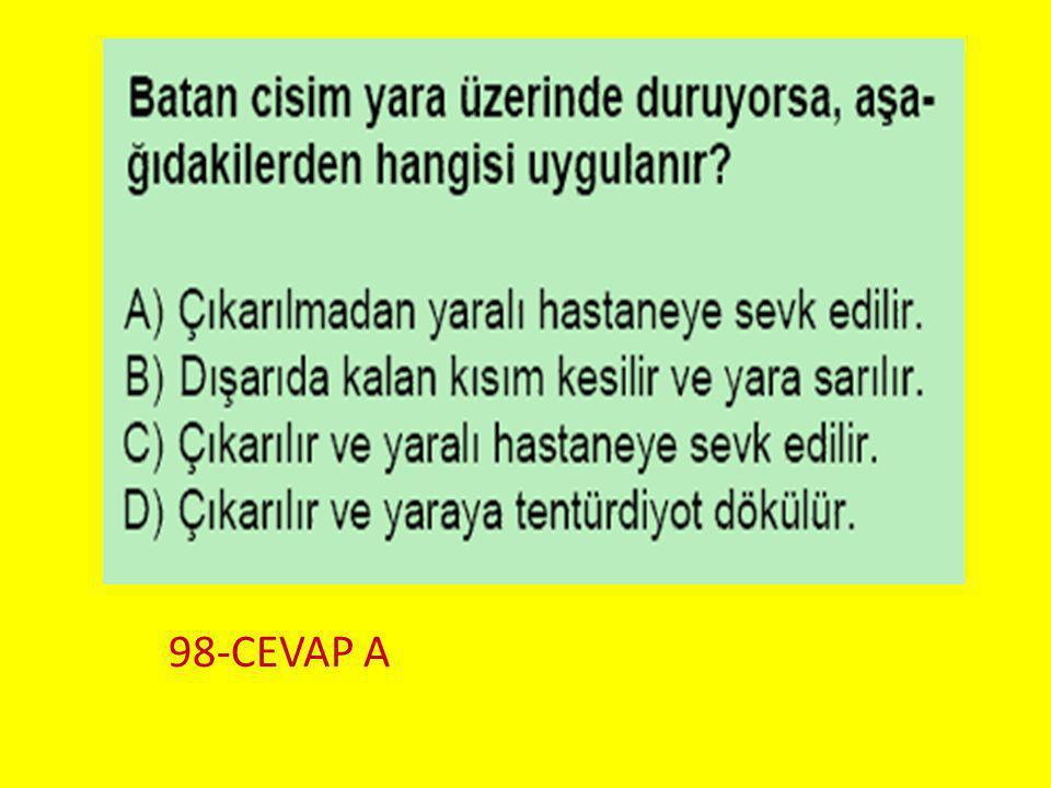 Soru 9.. 98-CEVAP A