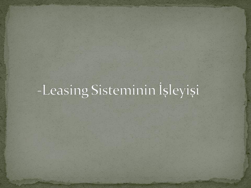 -Leasing Sisteminin İşleyişi