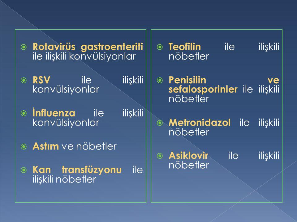 Rotavirüs gastroenteriti ile ilişkili konvülsiyonlar