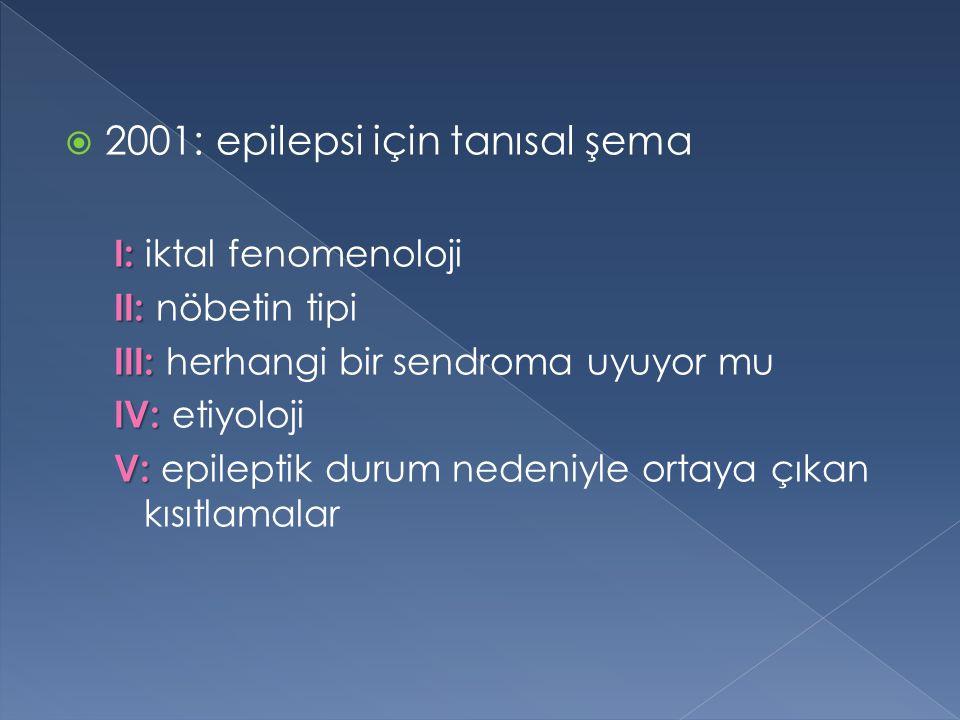 2001: epilepsi için tanısal şema