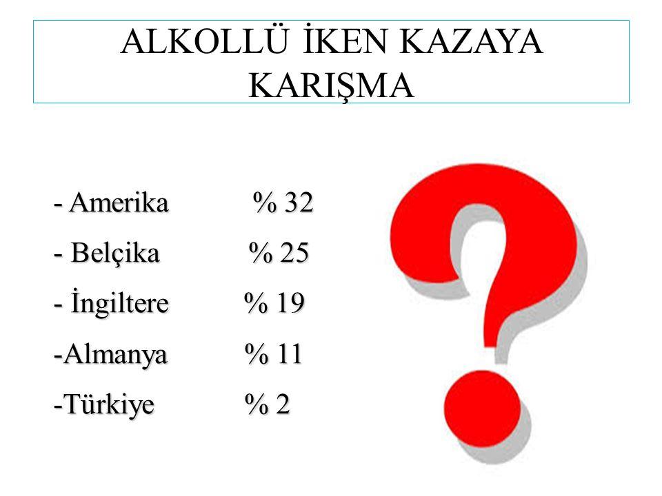ALKOLLÜ İKEN KAZAYA KARIŞMA
