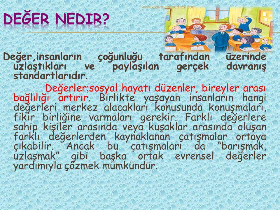 Değer nedir www.egitimcininadresi.com.