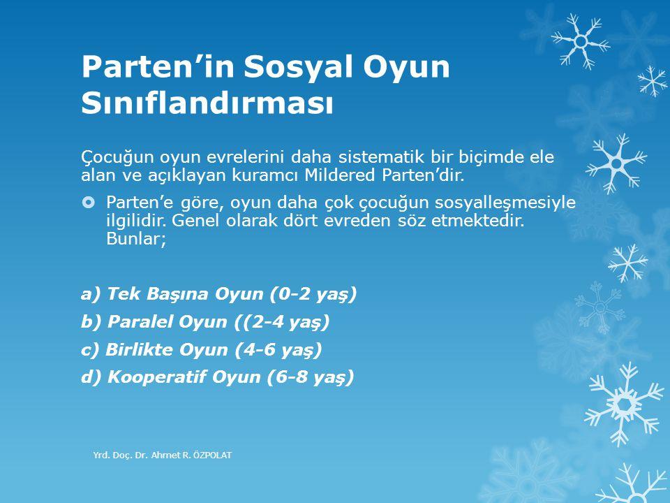 Parten'in Sosyal Oyun Sınıflandırması