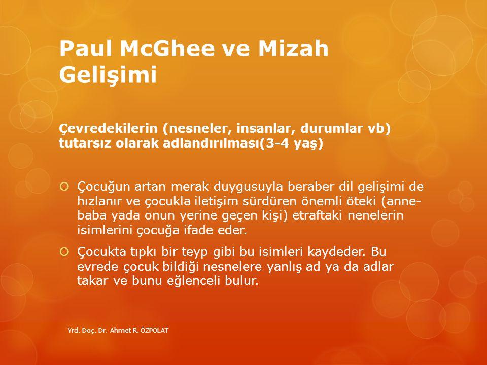 Paul McGhee ve Mizah Gelişimi