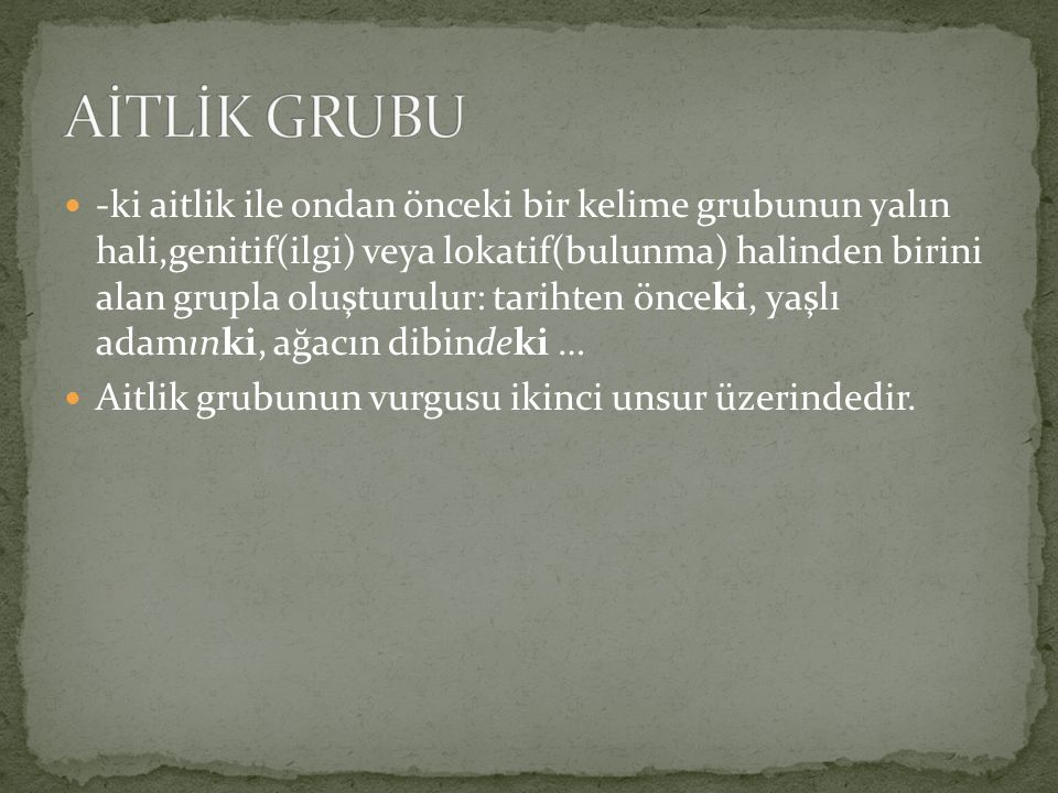 AİTLİK GRUBU