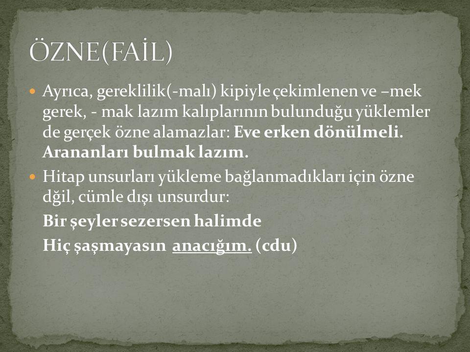ÖZNE(FAİL)