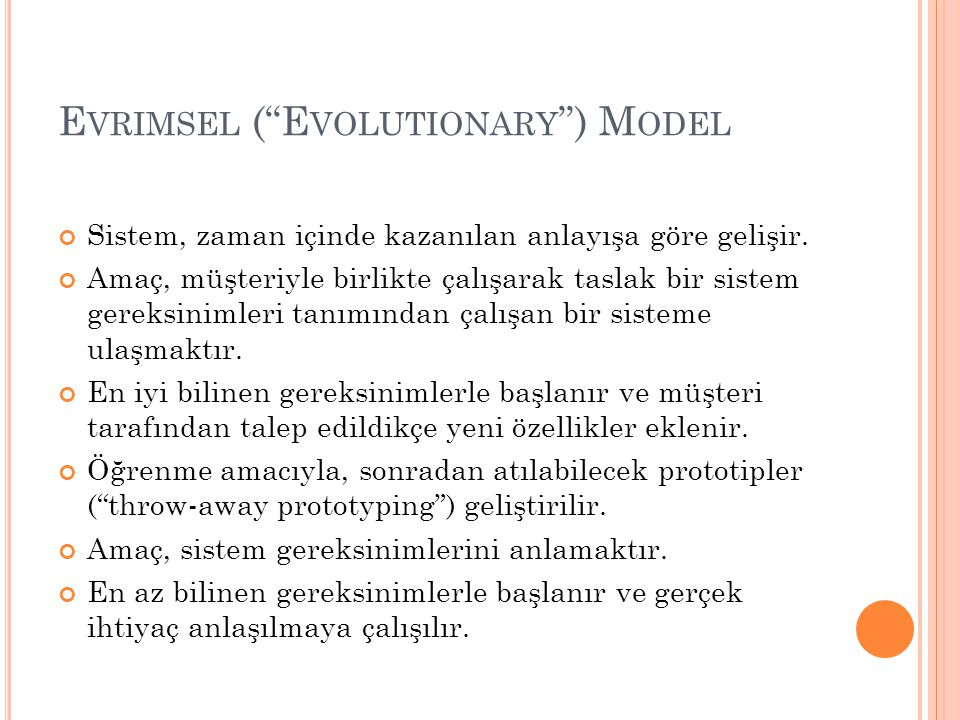 Evrimsel ( Evolutionary ) Model
