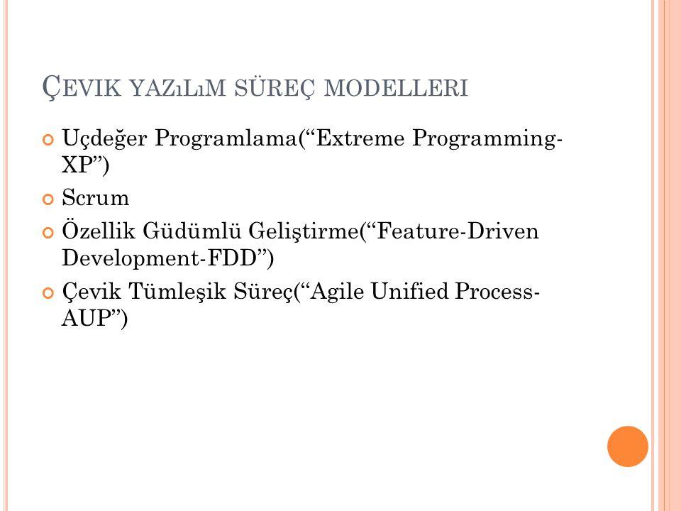 Çevik yazılım süreç modelleri