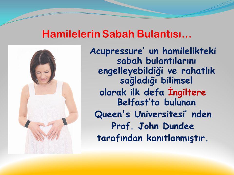 Hamilelerin Sabah Bulantısı…