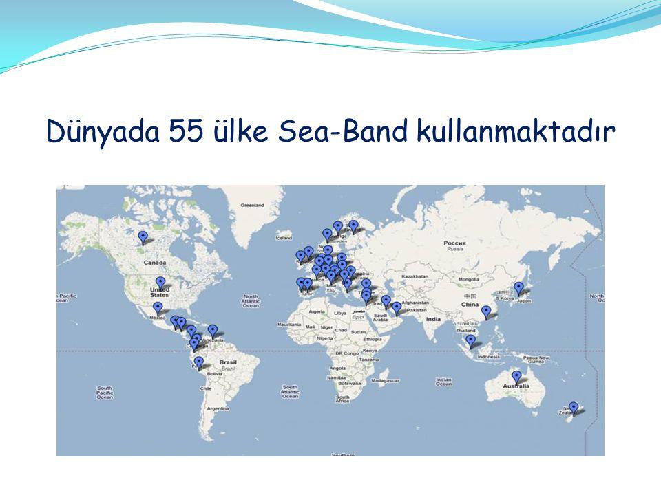 Dünyada 55 ülke Sea-Band kullanmaktadır