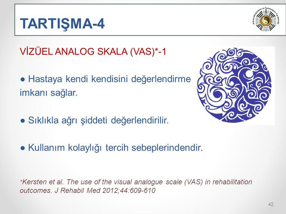 TARTIŞMA-4 VİZÜEL ANALOG SKALA (VAS)*-1