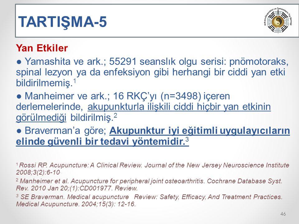 TARTIŞMA-5 Yan Etkiler.