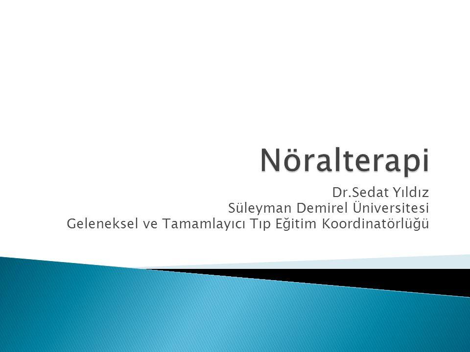 Nöralterapi Dr.Sedat Yıldız Süleyman Demirel Üniversitesi