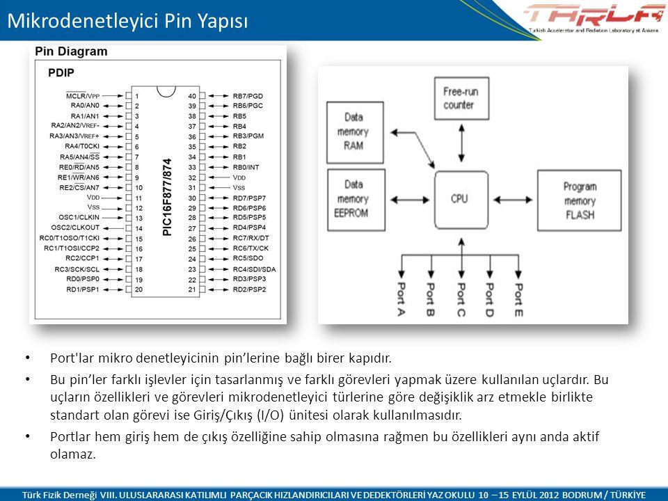 Mikrodenetleyici Pin Yapısı