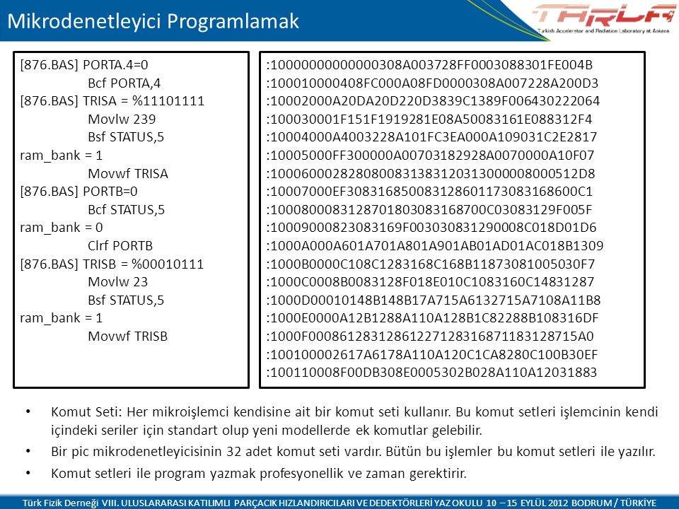 Mikrodenetleyici Programlamak