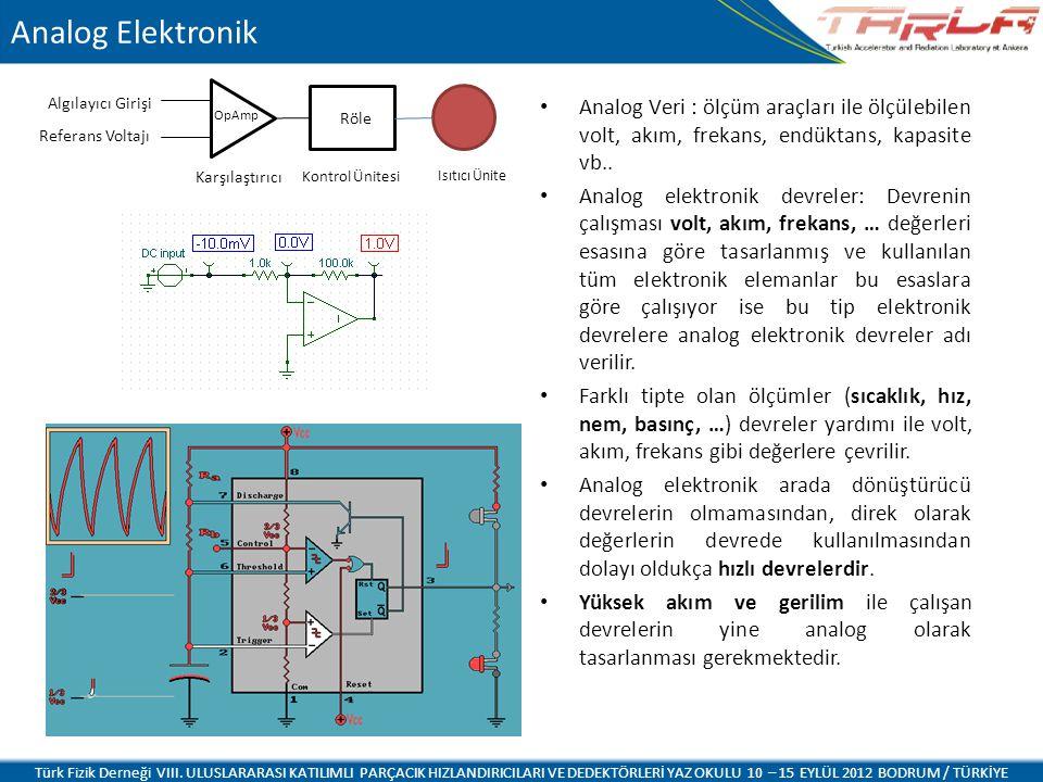Analog Elektronik OpAmp. Röle. Algılayıcı Girişi. Referans Voltajı. Karşılaştırıcı. Kontrol Ünitesi.