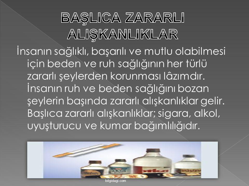 BAŞLICA ZARARLI ALIŞKANLIKLAR