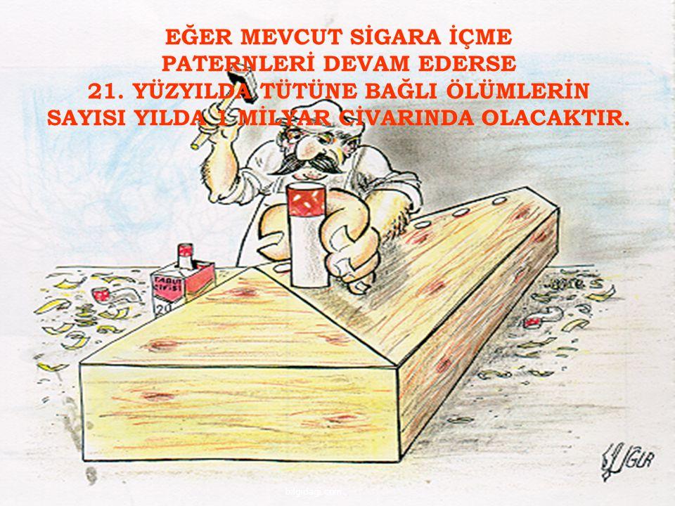 EĞER MEVCUT SİGARA İÇME PATERNLERİ DEVAM EDERSE