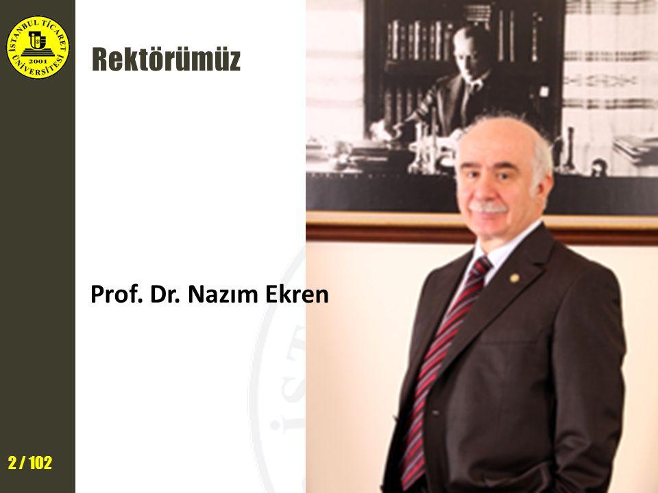 Rektörümüz Prof. Dr. Nazım Ekren