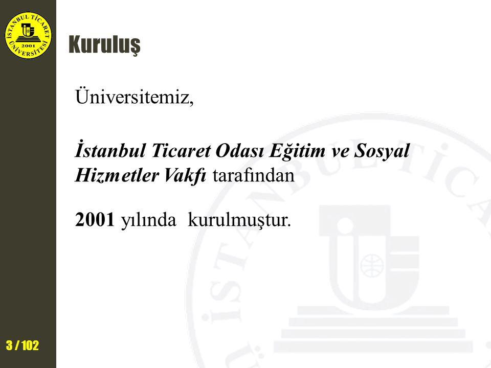 Kuruluş Üniversitemiz, İstanbul Ticaret Odası Eğitim ve Sosyal Hizmetler Vakfı tarafından 2001 yılında kurulmuştur.