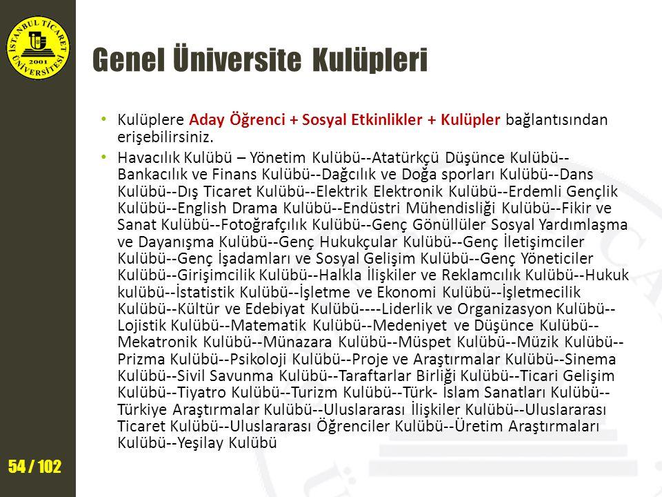 Genel Üniversite Kulüpleri