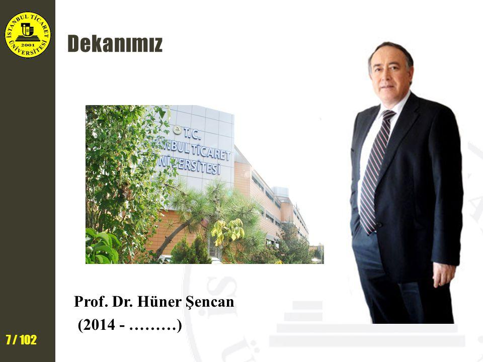 Dekanımız Prof. Dr. Hüner Şencan (2014 - ………)
