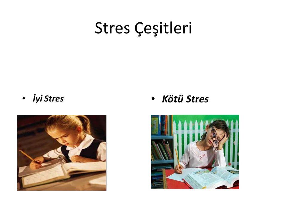 Stres Çeşitleri Kötü Stres İyi Stres