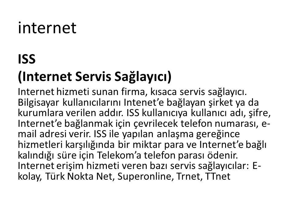 internet ISS (Internet Servis Sağlayıcı)