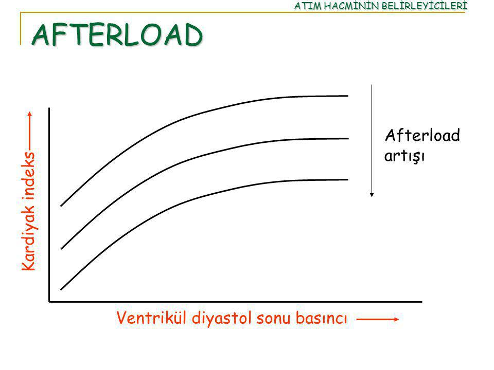 AFTERLOAD Afterload artışı Kardiyak indeks