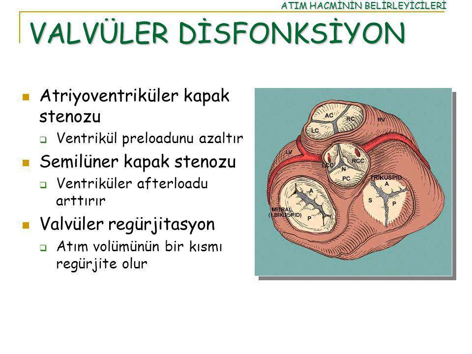 VALVÜLER DİSFONKSİYON