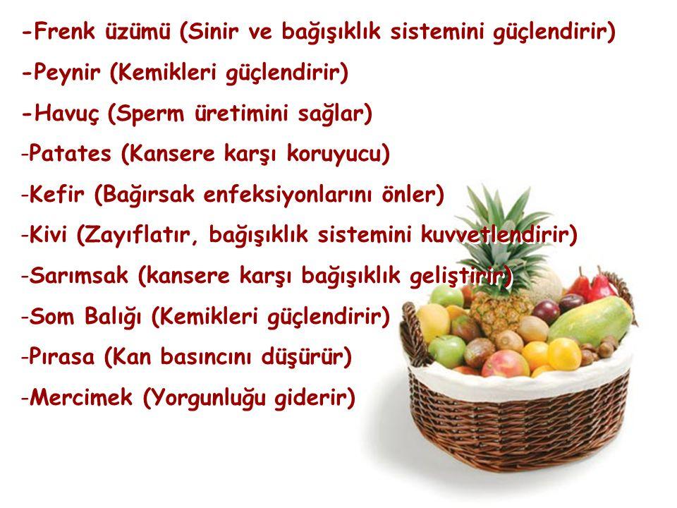 -Frenk üzümü (Sinir ve bağışıklık sistemini güçlendirir)
