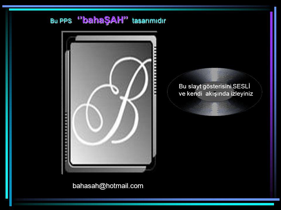 bahasah@hotmail.com Bu PPS, ''bahaŞAH'' tasarımıdır
