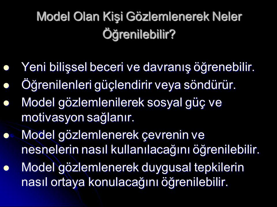 Model Olan Kişi Gözlemlenerek Neler Öğrenilebilir