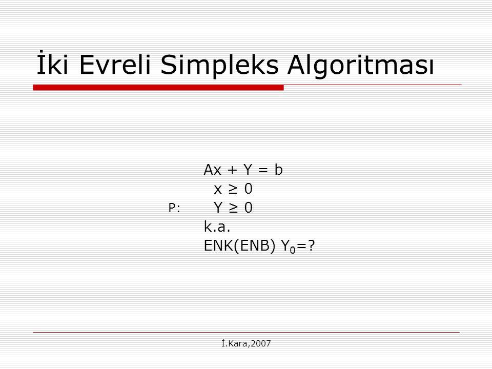 İki Evreli Simpleks Algoritması
