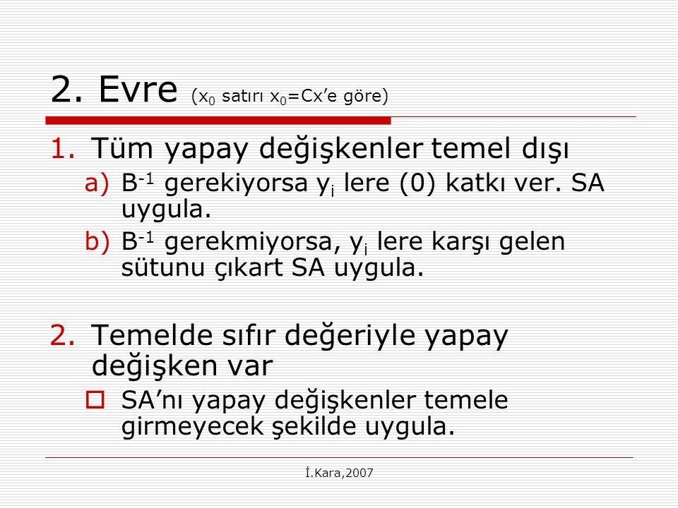 2. Evre (x0 satırı x0=Cx'e göre)