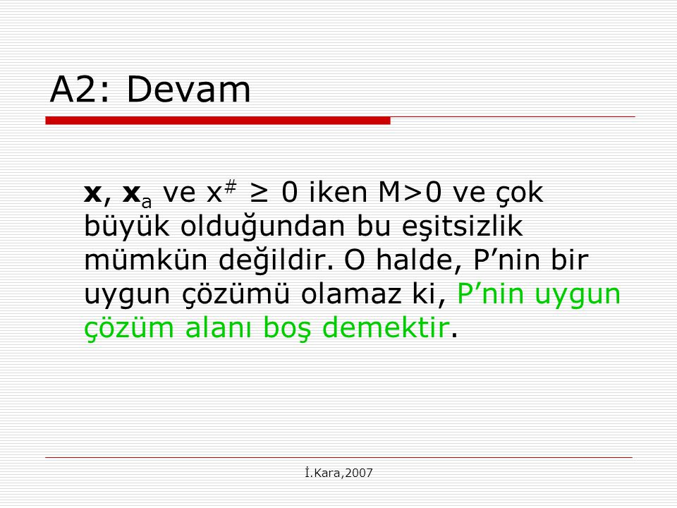 A2: Devam