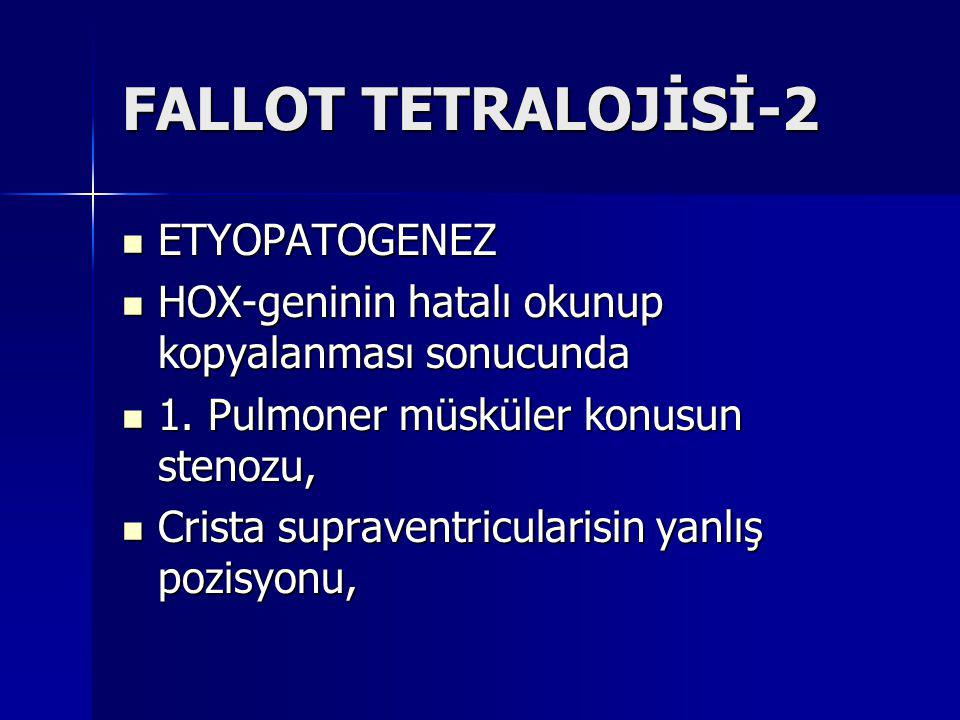 FALLOT TETRALOJİSİ-2 ETYOPATOGENEZ