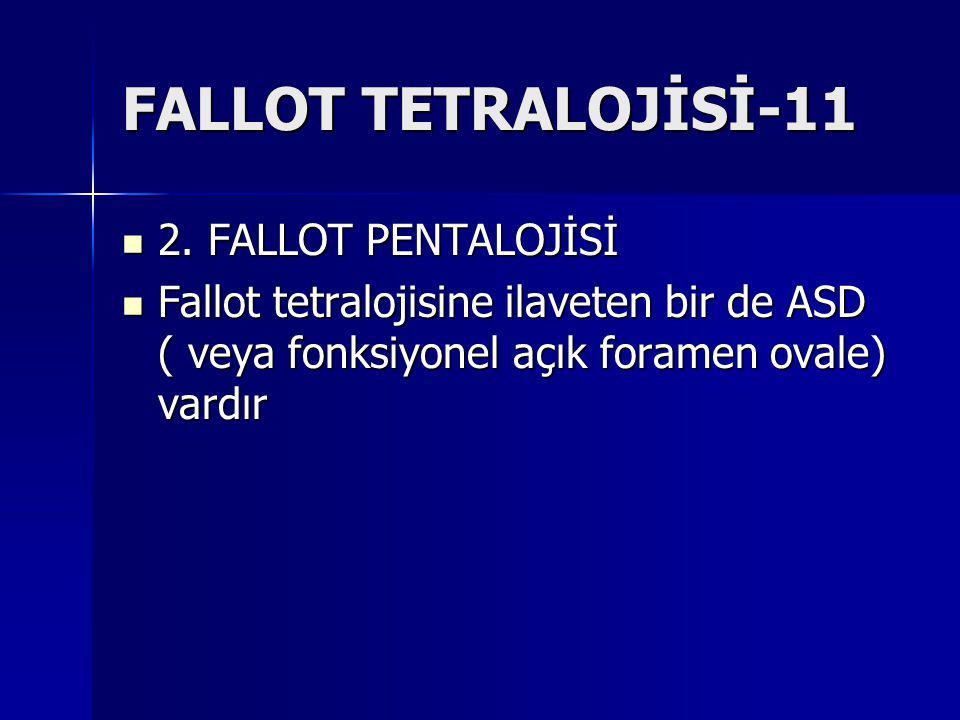 FALLOT TETRALOJİSİ-11 2. FALLOT PENTALOJİSİ