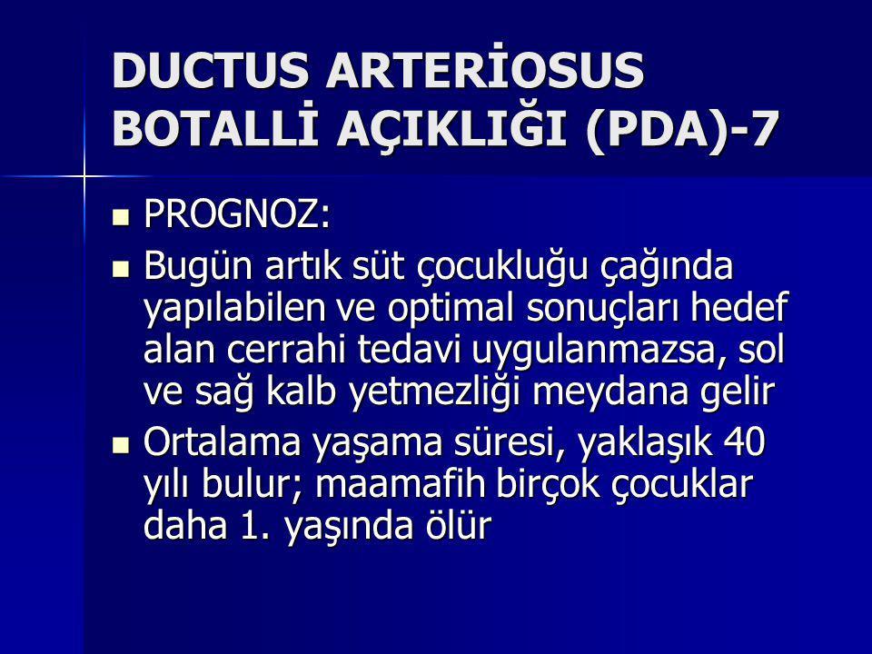 DUCTUS ARTERİOSUS BOTALLİ AÇIKLIĞI (PDA)-7