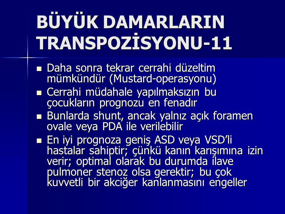 BÜYÜK DAMARLARIN TRANSPOZİSYONU-11