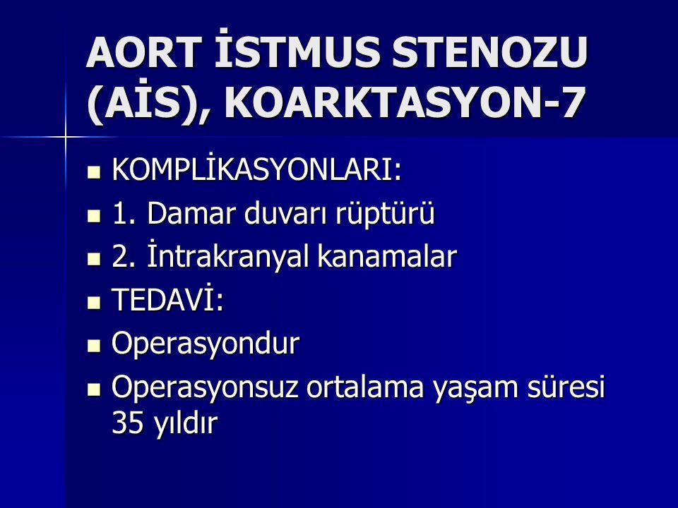 AORT İSTMUS STENOZU (AİS), KOARKTASYON-7