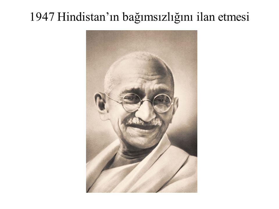 1947 Hindistan'ın bağımsızlığını ilan etmesi