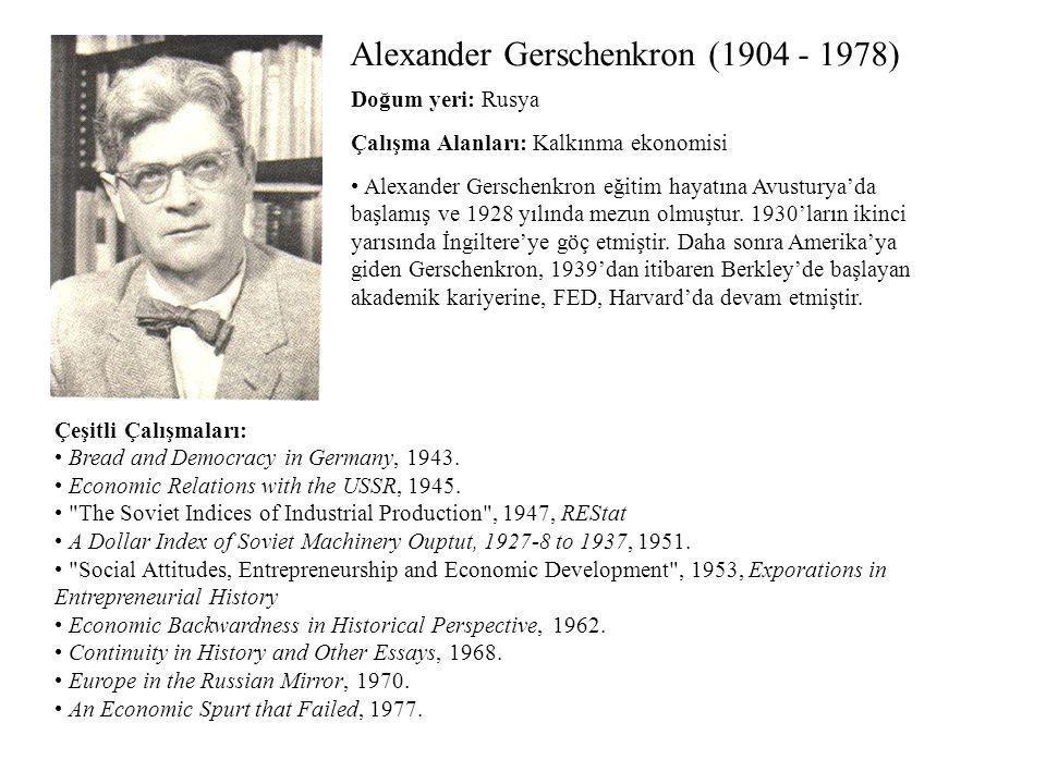 Alexander Gerschenkron (1904 - 1978)