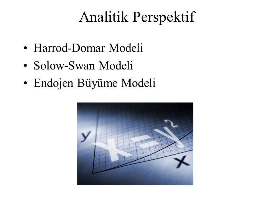 Analitik Perspektif Harrod-Domar Modeli Solow-Swan Modeli