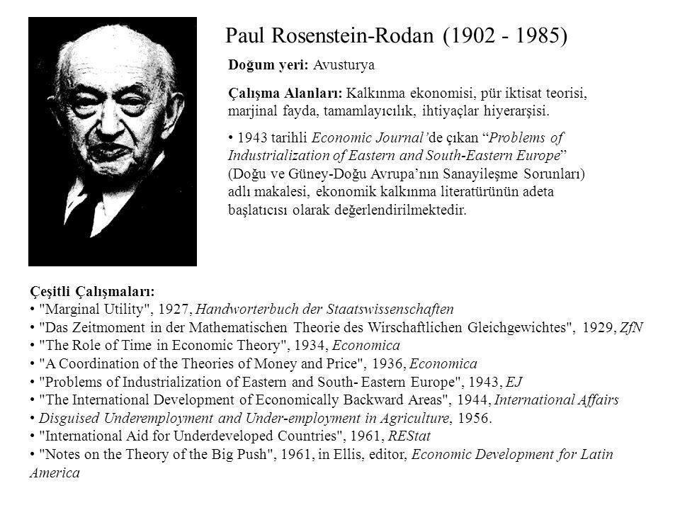 Paul Rosenstein-Rodan (1902 - 1985)
