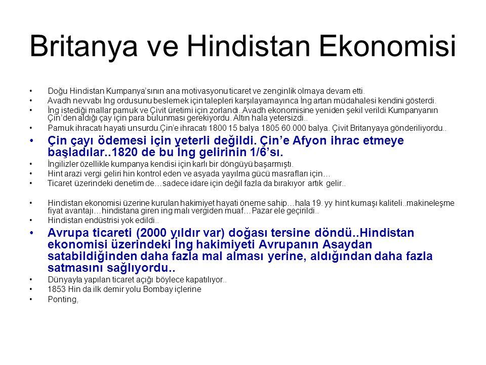 Britanya ve Hindistan Ekonomisi