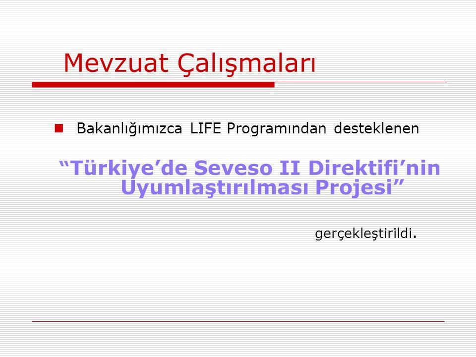 Türkiye'de Seveso II Direktifi'nin Uyumlaştırılması Projesi